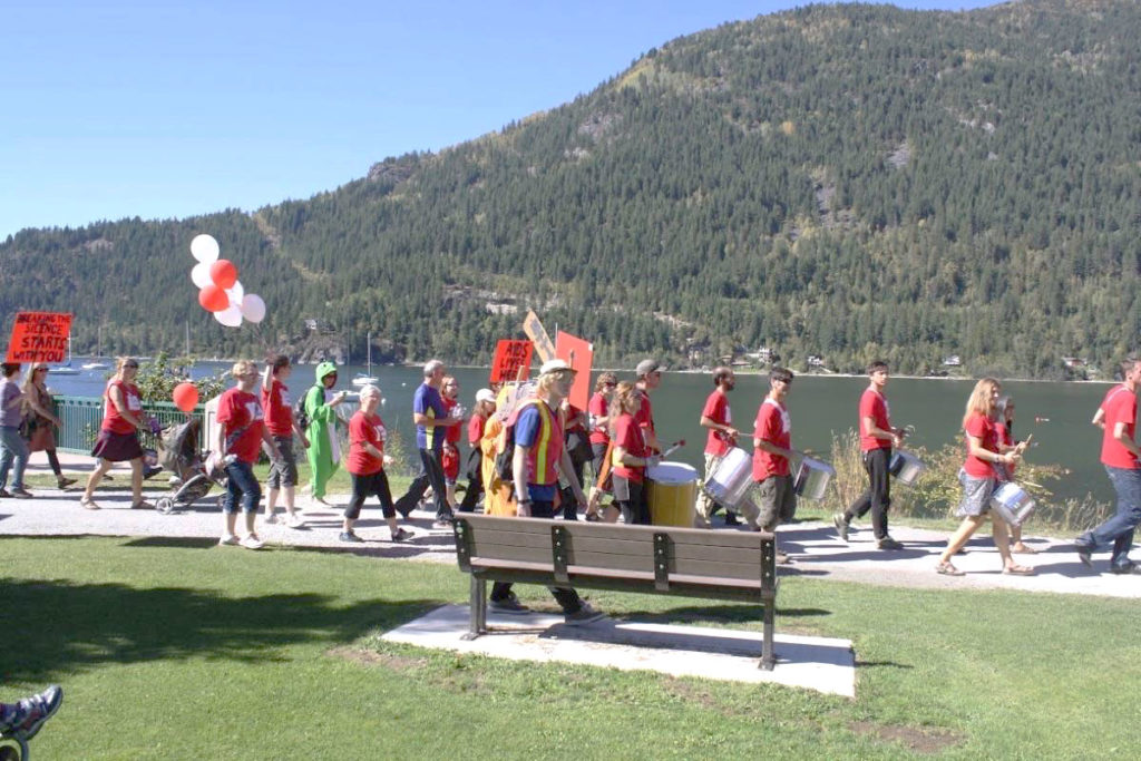 ANKORS AIDS walk at Lakeside Park in Nelson BC