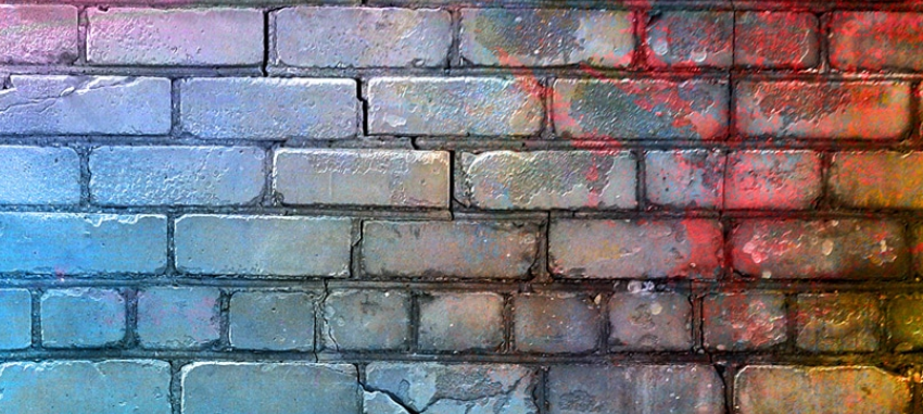 colourful brick wall