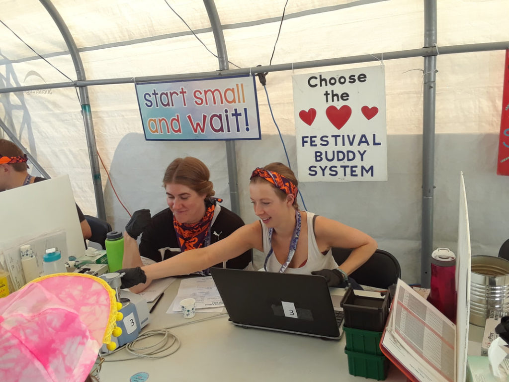 Drug Checking at a Festival