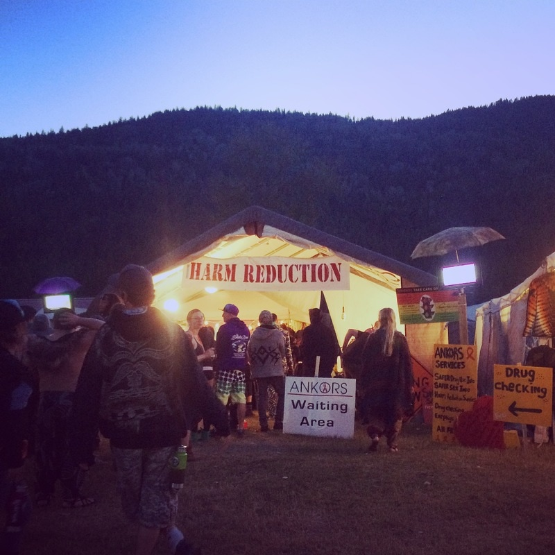 ANKORS tent at a festival